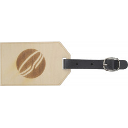 WOODEN LUGGAGE TAG